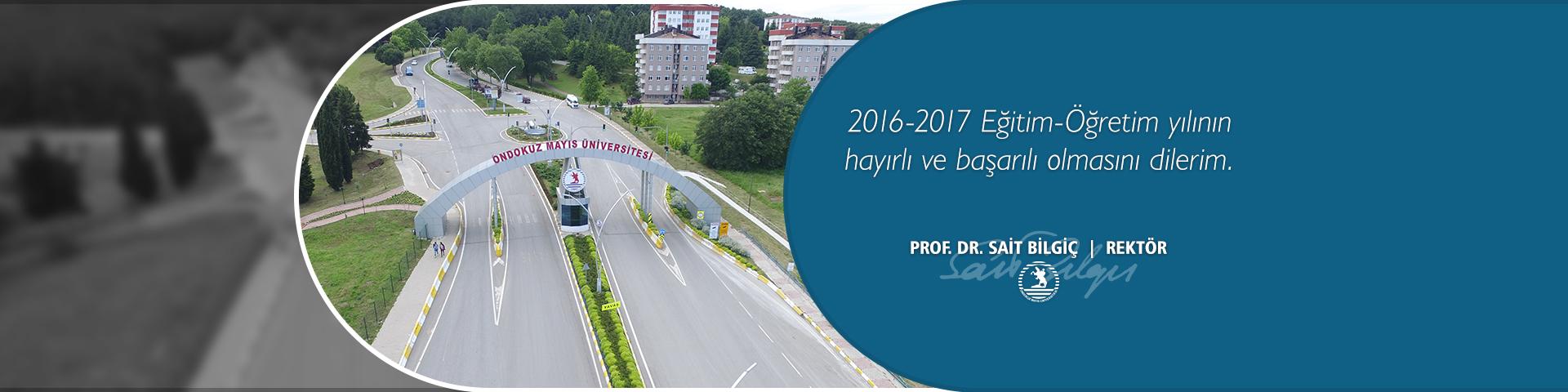 2016-2017 Eğitim Öğretim Yılı Mesajı