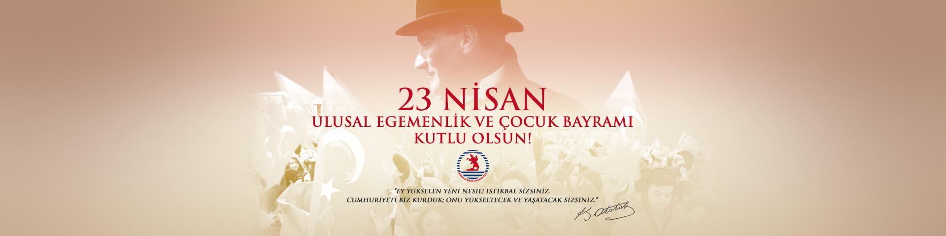 Rektör Bilgiç'in 23 Nisan Ulusal Egemenlik ve Çocuk Bayramı Mesajı