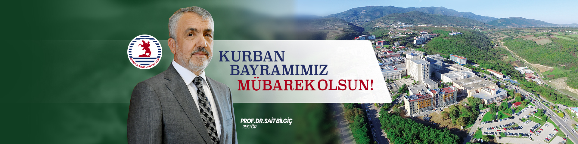 Rektör Bilgiç, Kurban Bayramımız Mübarek Olsun