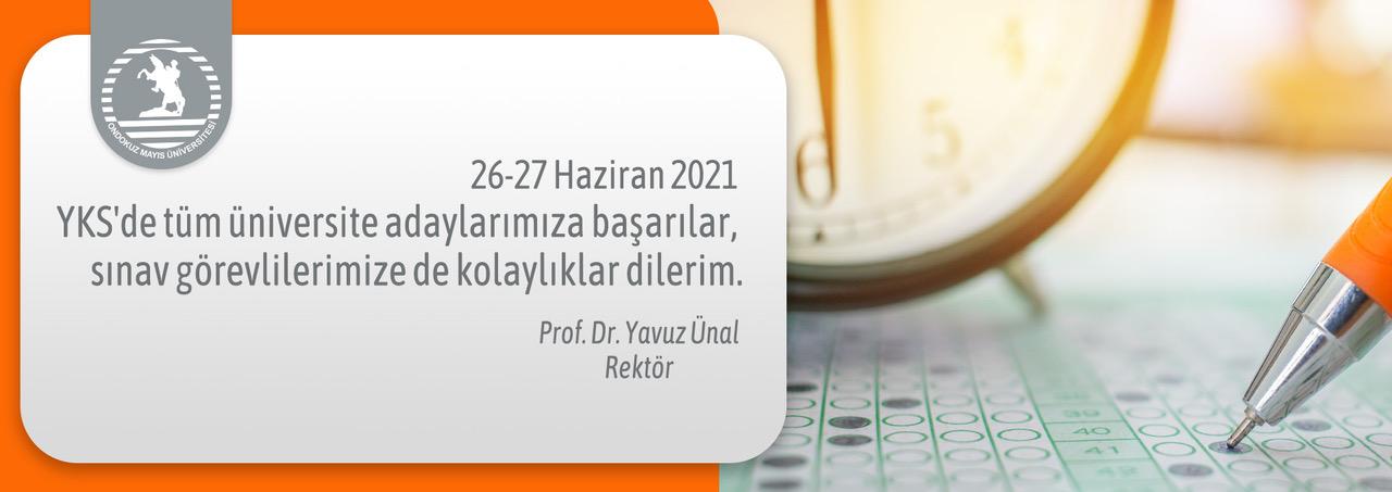 Rektör Prof. Dr. Ünal: