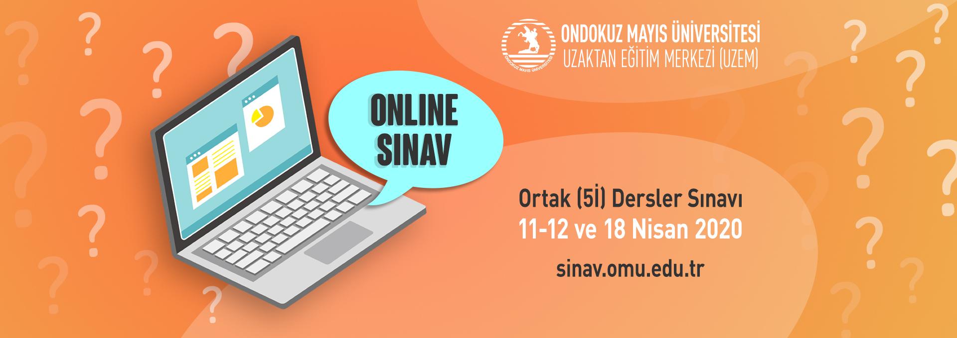 Ortak Dersler Sınavı 11-12 ve 18 Nisanda Online Olarak Yapılacak