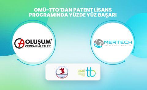OMÜ-TTO'nun, TÜBİTAK Patent Lisans Programı'na sunduğu 2 projesi desteklenmeye değer bulundu.