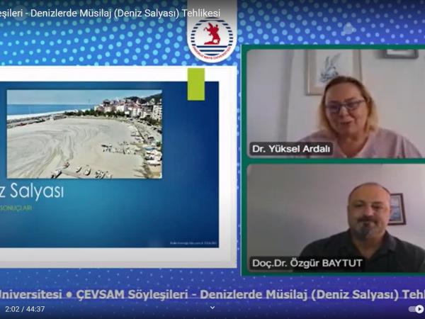 Söyleşide Prof. Dr. Baytut, Karadeniz'de de müsilaj teşhis ettiklerine dikkat çekti.