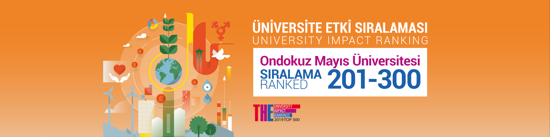 OMU Ranked 201 - 300 in the Overall 2019 THE University Impact Rankings